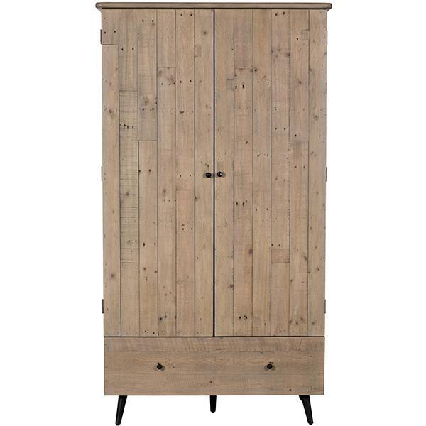 Chelwood Reclaimed Wood Wardrobe In 2020 Wood Wardrobe Wooden Wardrobe Free Standing Wardrobe