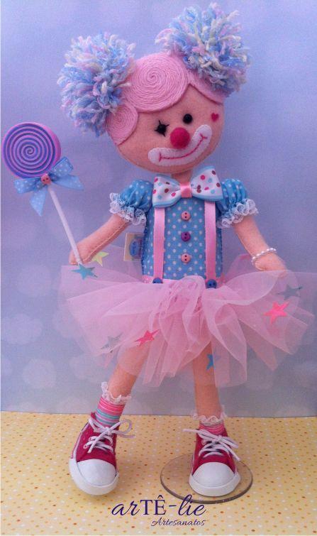 Lollipop <3 #felt #doll #circo #feltro