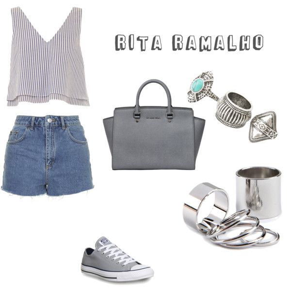 Grey is on top by ritinha-ramalho on Polyvore featuring Apiece Apart, Topshop, Converse, MICHAEL Michael Kors and MANGO