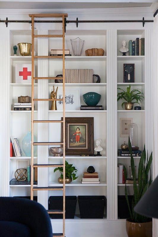 Die besten 25+ Bücherregal mit leiter ikea Ideen auf Pinterest - wohnzimmer deko ikea