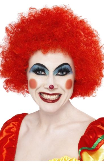 Economy Clown Wig In Red | Jokers Masquerade