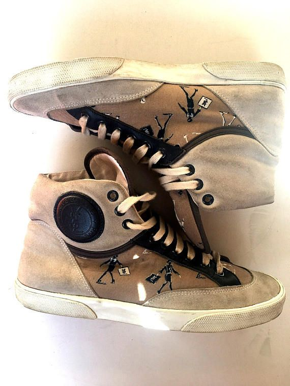 Authentic Yves Saint Laurent YSL Sneakers Shoes Boots Suede