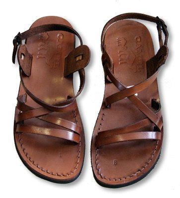 Leather Biblical Sandals - Hand Made from Jerusalem - Tzippora Model