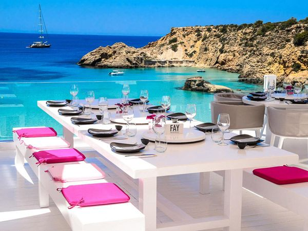 Fay restaurant, Cotton Beach Club, Ibiza. Visit www.beachandbubbles.com for worlwide beaches, clubs & events!