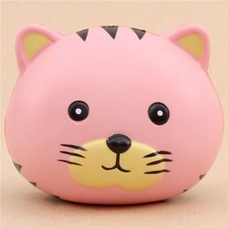 Adorable Oriker pink tiger bun scented squishy