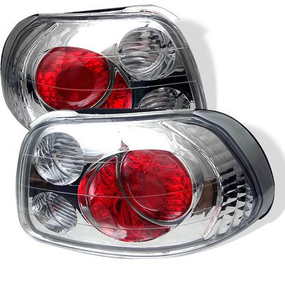 1993-1997 Honda Del Sol Euro Style Tail Lights - Chrome