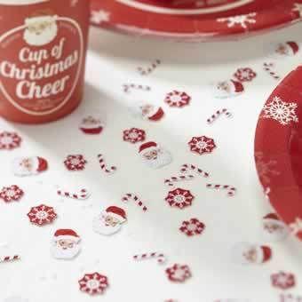 Christmas Cheer Table Confetti Santa's Candy Canes & Snowflakes | eBay