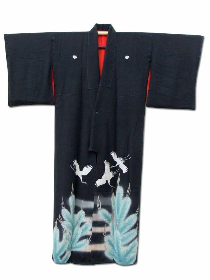 Fuji Kimono #gift idea No.26 ☆ 'Mirage' #vintage #Japanese #silk #kimono - £120. Last posting TODAY date Dec 19!  http://www.fujikimono.co.uk/womens-kimono/mirage.html