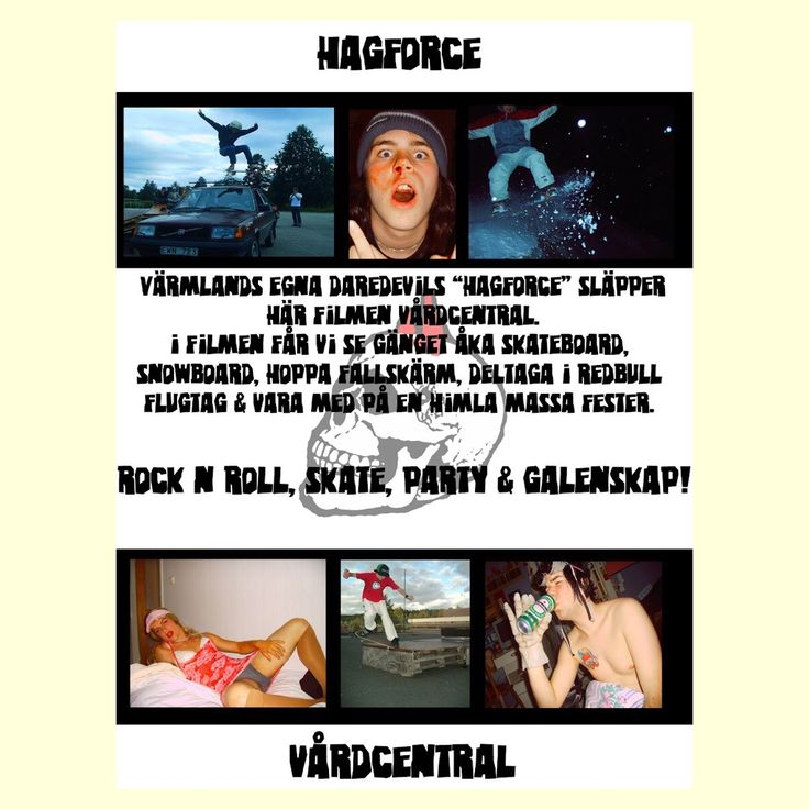 Vårdcentral back DVD-cover/movie poster. #hagforce #vårdcentral