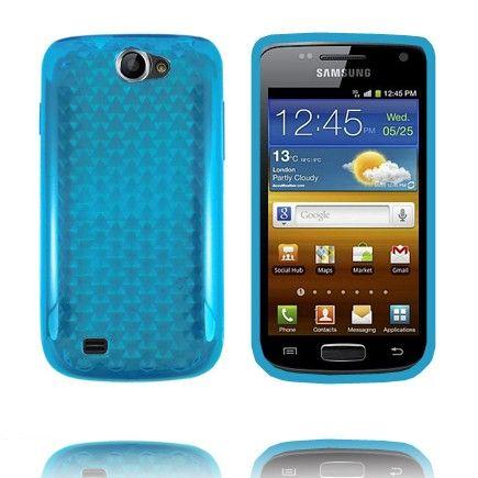 Kuutiot (Sininen) Samsung Galaxy W Silikonisuojus