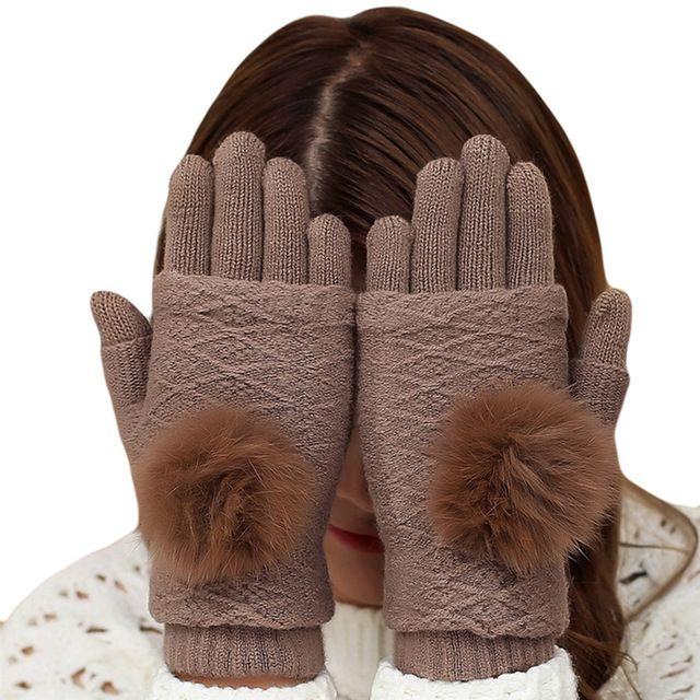 Dámske elegantné dvojdielne rukavice z bavlny v rôznych farbách