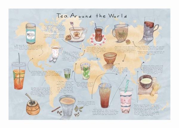 tea tradtions around the worlds= | Tea around the World on Behance