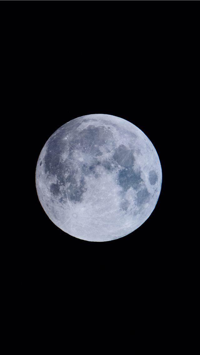 Blue Moon Menggambar Bulan Bulan Purnama Estetika Langit