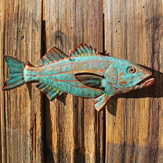CUSTOM for you  copper fish sculpture with by natureartstudio, $36.00
