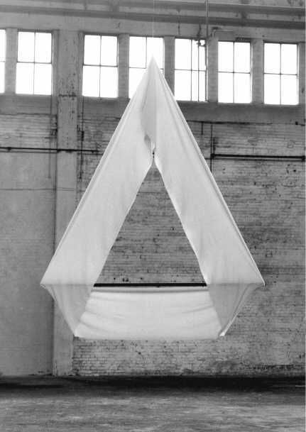 lafilleblanc:  Reiner Ruthenbeck Chandelier4 White,1980fabric, metal