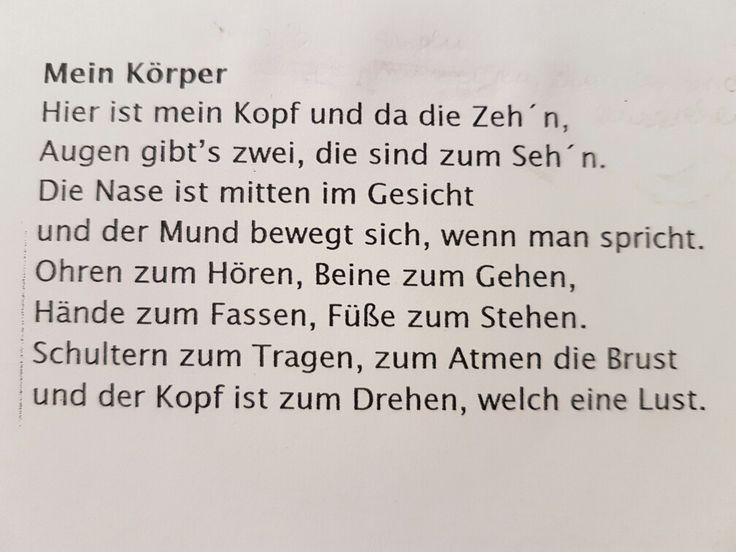 Körperreim/Lied #kindergarten #kita #song #erziehung #musik #kinderlied #körper #erzieherin – Raphaela