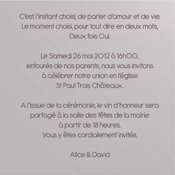 Epingle Par Aurelie Prosper Sur Wedd En 2020 Texte Faire Part