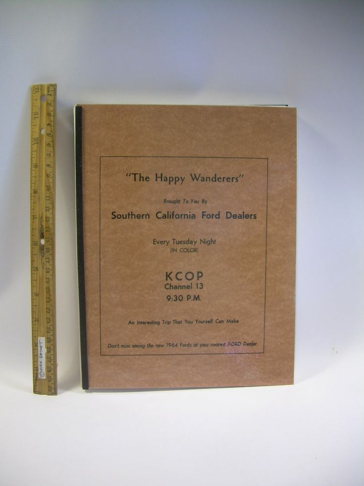 Happy Wanderers TRAVELOGUE Slim Bernard KTLA + KCOP TV Travel Guide California