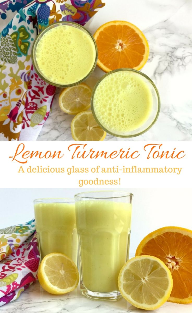 A power packed drink filled with anti-inflammatory goodness from turmeric, ginger, and lemon. Lemon Turmeric Tonic is a delicious good-for-you beverage!   This is so good...