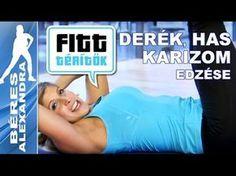 Béres Alexandra - Farizom és hasizom edzése (Fitt-térítők sorozat) - YouTube