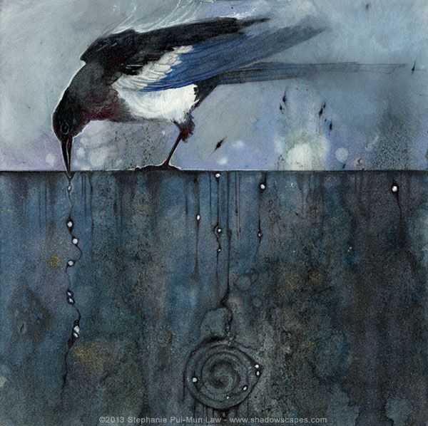 Magpies: 1 for Sorrow by Stephanie Pui-Mun Law - Shadowscapes - http://www.shadowscapes.com/image.php?lineid=23&bid=998