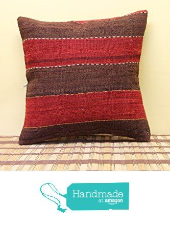 Decorative kilim pillow cover 16x16 inch (40x40 cm) Oriental Kilim pillow cover Home Decor Handmade Pillow cover Natural Pillow Cover http://www.amazon.com/dp/B019H6HRFI/ref=hnd_sw_r_pi_dp_teTCwb081H8AT #handmadeatamazon