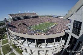 Favorite place to be on a Saturday in October - Tiger Stadium where the chance of rain is ....... NEVER!!!!!!