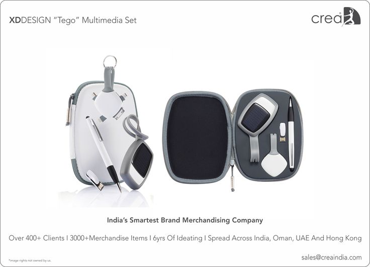 XDDESIGN Tego multimedia set for corporates by Crea - India's smartest brand merchandising company.