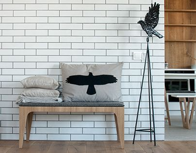 Our design bureau has developed a set of furniture for one of Kiev apartments. It includes: coffee tables, objects in the kitchen, bathroom and hallway, and bedroom furniture.