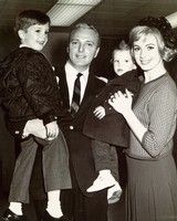 """Courtesy photo  Jack Cassidy and Shirley Jones hold up their sons, Shaun, left, and Patrick, in this early '60s photo. Shaun was laid-back about the Christmas holidays, Patrick was """"crazed,"""" Jones said. """"He still is."""""""