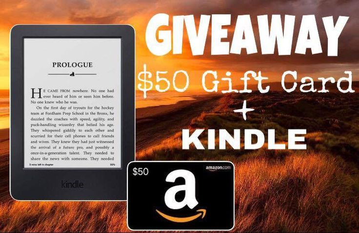Giveaway win a kindle 50 giftcard books pnr