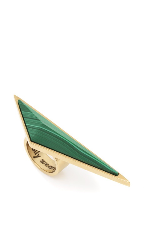 Malachite Point Ring by Kelly Wearstler for Preorder on Moda Operandi