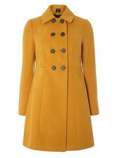 Ochre Double Breasted Swing Coat Dorethy Perkins  £55