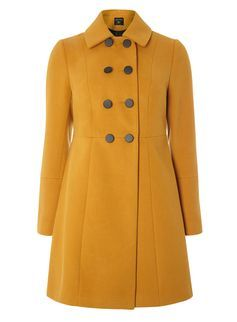 Ochre Double Breasted Swing Coat Dorethy Perkins  £55