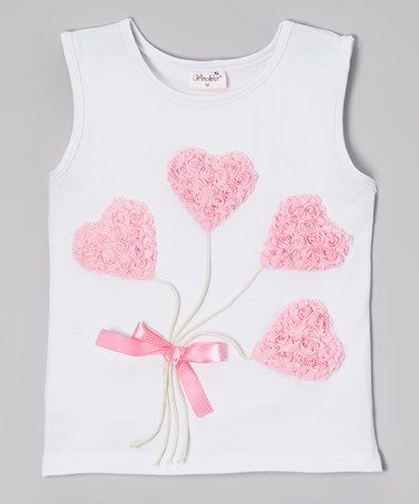 Love this White Heart Balloon Tank - Infant, Toddler & Girls by Wenchoice on #zulily! #zulilyfinds