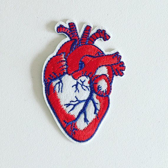 Hearts Embroidered PATCH//BADGE