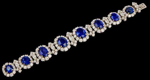 Sapphire and diamond bracelet.