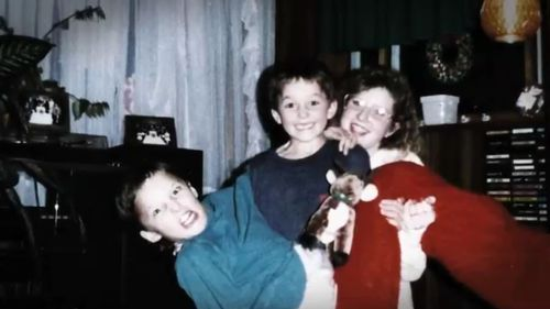 A young Rick Rypien (center) and family