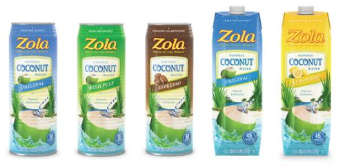 Zola Coconut Water Packaging Design
