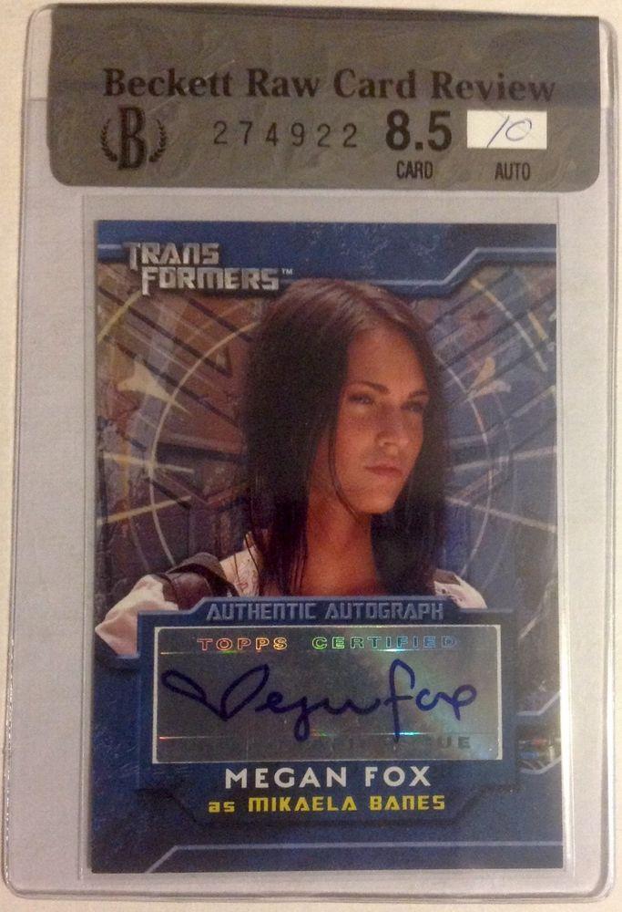 2007 Topps Transformers Megan Fox Bgs 8 5 10 Auto Autograph Mikaela Banes Sp Megan Fox Megan Fox Transformers Autograph