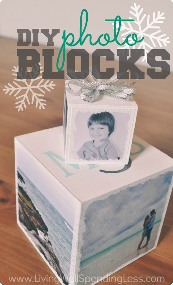 There's nothing more memorable than a photo-inspired gift. Awesome step-by-step tutorial for making simple photo blocks.  Create a statement piece for the home, or turn a smaller block into a Holiday ornament!