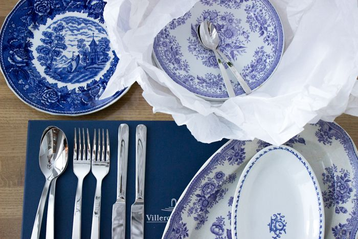 Blue and white Arabia dishes / www.kaitholmen.com
