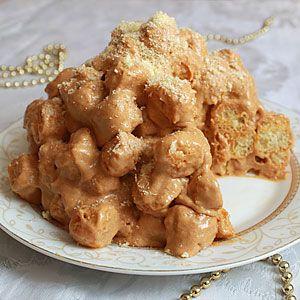 Торт из кукурузных палочек со сгущенкой  фото