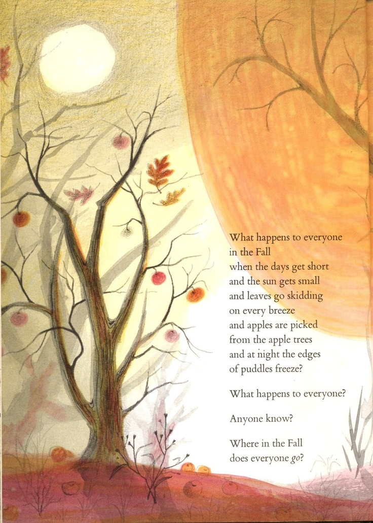 Great Autumn Quotes   From Where Does Everyone Go? By Aileen Fisher, Ill. By  Adrienne Adams, 1961
