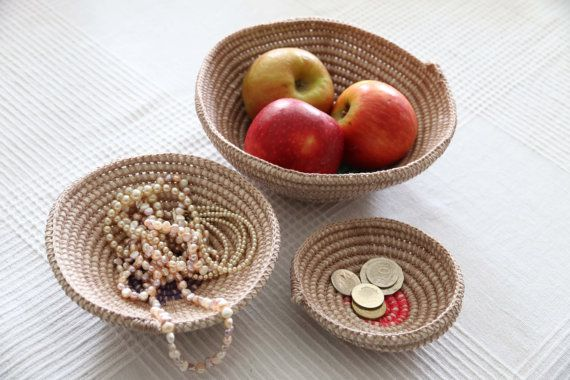 Crochet decorative bowls for the home  set 3 by ElvieWithLove