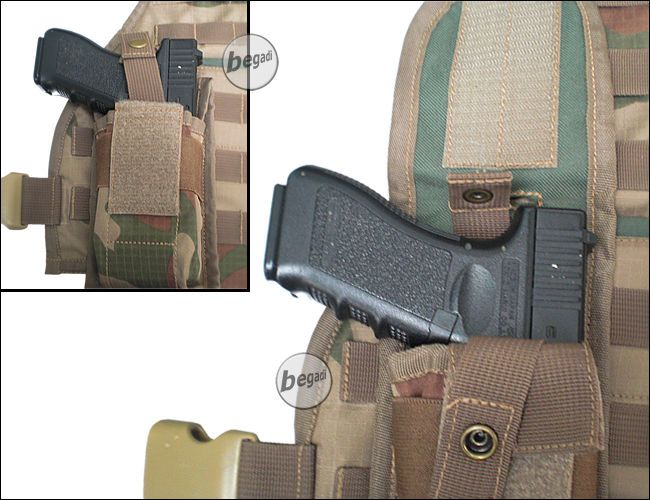 BE-X Molle Holster, ambidextrous - Coyote Tan / MJK - BEGADI- Tactical clothing, airsoft, Outdoor and Accessories