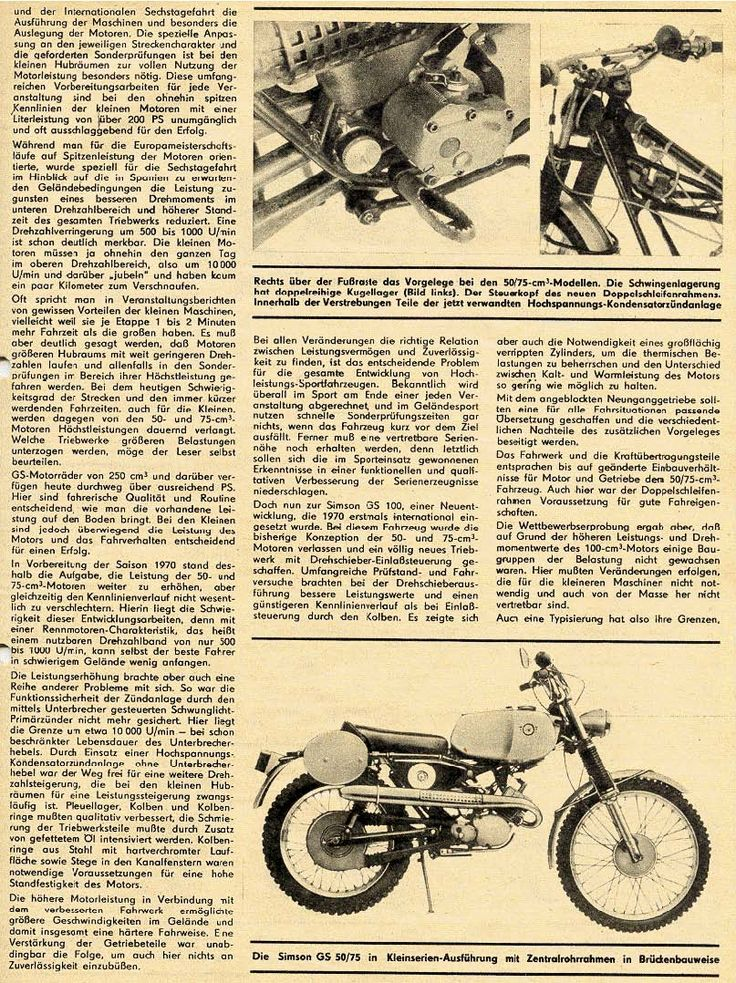 Simson GS Bericht 1970