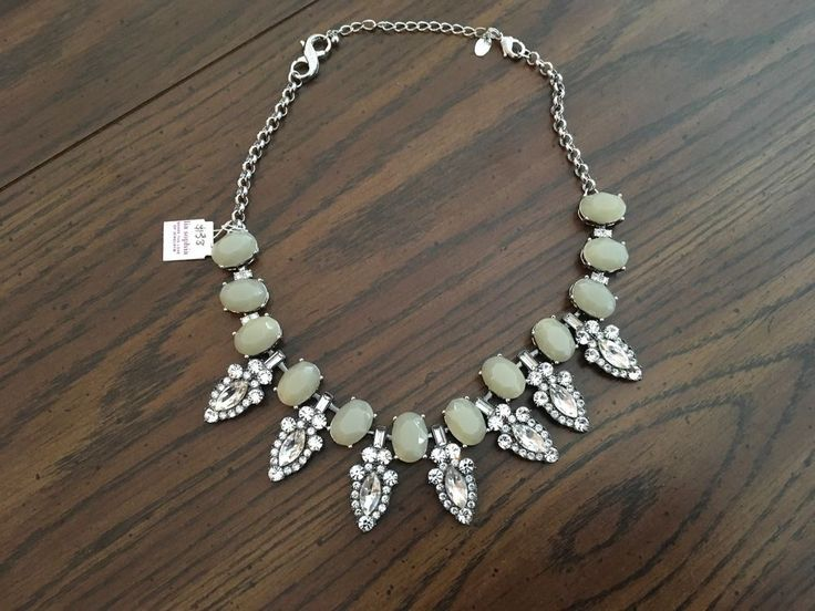 """Lia Sophia Astoria Necklace Cut Crystals and Resin17-20"""" RV $138 NIB 