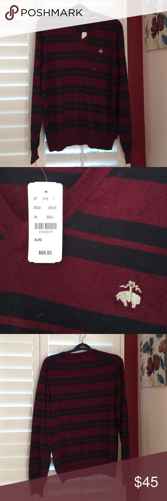 Nwt brooks brothers cotton/cashmere sweater XL Nwt brooks brothers cotton/cashmere sweater XL Brooks Brothers Sweaters V-Neck