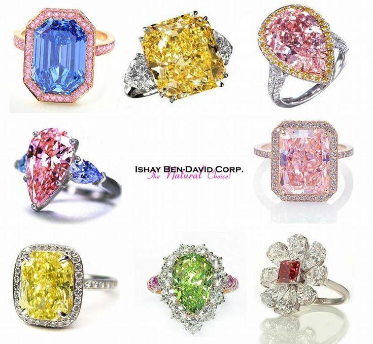 28 best Fancy Color Diamond Rings images on Pinterest